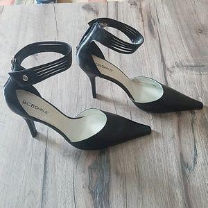 BCBGirls ankle strap heels.